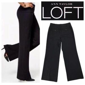 Black Loft Wide Legged Dress Pants Trousers